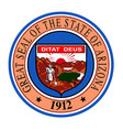 state seal of arizona vector image vector image
