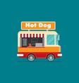 street food van fast food delivery vector image vector image
