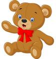 teddy bear a of a cute cartoon teddy vector image vector image
