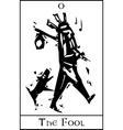 The Fool Tarot Card vector image vector image