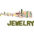 the jewelry market never goes out of style even vector image vector image