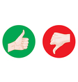 thumb up thumb down round icons vector image vector image