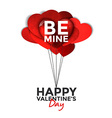 valentine card with paper hearts 3 vector image
