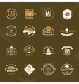 Vintage bakery badges labels and logos vector image vector image