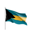 waving flag of bahamas vector image