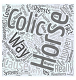What causes colic Word Cloud Concept vector image vector image