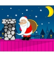 Santa Claus New Year Eve vector image
