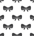 festive bow seamless pattern vector image