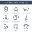 9 alert icons vector image vector image