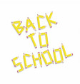 back to school design elements pencil typography vector image
