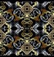 baroque seamless pattern black damask vector image