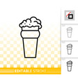 beer glass ware simple black line icon vector image vector image