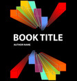 black book cover with vivid prism shapes in vector image