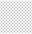 black dense rhombus dots pattern on white vector image vector image
