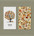 Books library business card design
