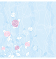 bouquet of roses on blue background vector image