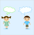 boy and girl talk vector image vector image
