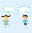 boy and girl talk vector image