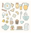 Breakfast food and drink vector image vector image