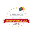 camaroon independence day design vector image
