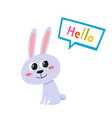 cartoon funny hare isolated vector image vector image