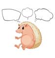 Cartoon Thinking Molehog vector image vector image