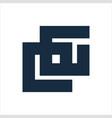 cg eg gg initials geometric letter company logo vector image vector image