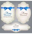 Christmas labels tags set vector image vector image
