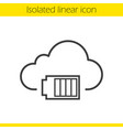 cloud computing linear icon vector image