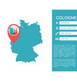 cologne map infographic i vector image vector image