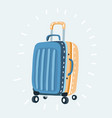 color plastic travel bag with different travel vector image vector image