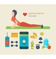 Concept of healthy lifestyle Young woman vector image