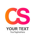 cs letter logo design template c letter logo vector image