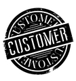 Customer rubber stamp vector image