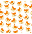 cute fox face cartoon background vector image