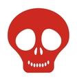 cute skull icon vector image