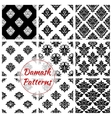 Damask seamless patterns of floral ornate tracery vector image vector image
