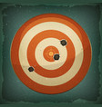 dart target with bullets shot vector image vector image
