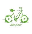 Eco bicycle vector image