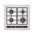 embeddable gas stove vector image vector image