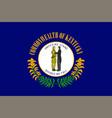 flag of kentucky usa vector image vector image