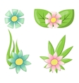 Flower icon colorful plant nature vector image vector image