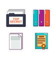 folder icon set cartoon style vector image