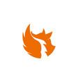 fox orange inspiration logo vector image