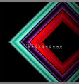 geometric shapes created with fluid multicolored vector image vector image