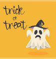 halloween ghost with hat vector image vector image