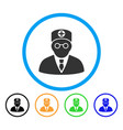 head physician rounded icon vector image vector image