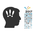 Head Problems Icon With 2017 Year Bonus Pictograms vector image vector image