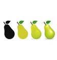 healthy pears vector image vector image