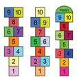 hopscotch game vector image